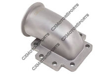 "CX T6 Turbo to 3"" V-Band 304 Stainless Steel 90 Degree Elbow Adapter Flange"