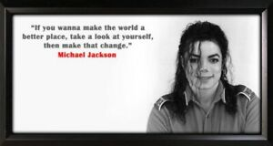 Michael Jackson Framed Photo Motivational Poster