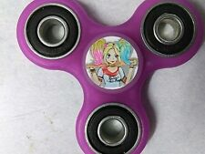 Harley Quinn cartoon style print Transparent Purple Fidget Spinner