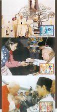 Vatican City Sc# 1253-5: Journeys of John Paul II in 2002, 3 Maxi Cards