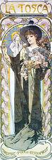 """Alphonse (Alfons) Mucha- La Tosca, 1899 - 20""""x48"""" CANVAS ART"""