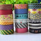 New Japanese 15mm Wide Decorative Craft  Paper Washi Tape Mulit Choice