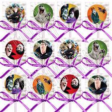 Hotel Transylvania Movie Lollipops w/ Purple Ribbon Bows Party Favors -12 pcs