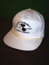 CLUB CABARET vtg snapback cap Creve Coeur baseball hat strip-club fantasy OG