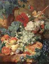 Huysum Jan Van Fruit Still Life A3 Box Canvas
