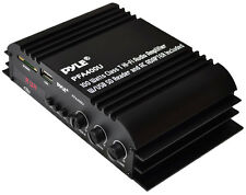NEW Pyle PFA400U 100 Watt Hi-Fi Audio Amplifier with USB Flash & SD Card Reader