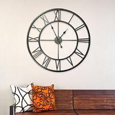Enorme 100 Cm Metal Hierro Número Romano Relojes de Pared Vintage Antiguo Decoración Hogar