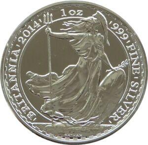 2014 Royal Mint Britannia £2 Two Pound .999 Silver 1oz Coin Bullion Uncirculated