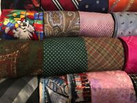 Lot 50 Pcs Silk Neckties Craft Quilting Cutter Bulk Tie Lots