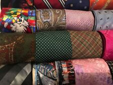 Lot 50 Pcs Silk Neckties Craft Quilting Cutter Bulk Tie Lots