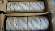 20 Rolls PVC Flagging / Survey Tape 25mm X 75M - Yellow / White Striped
