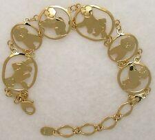 Bichon Frise Jewelry Gold Bracelet by Touchstone Dog Designs