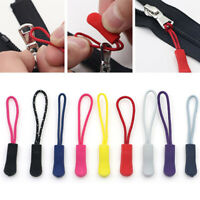 10pcs Zipper Pull Puller End Fit Rope Tag Fixer Zip Cord Replacement Clip Supply