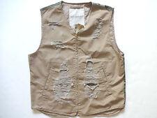New Ralph Lauren Denim and Supply Khaki Camo Distressed Cotton Vest Slim S