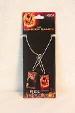 The Hunger Games Set of 2 PETA Dog Tags Necklaces NEW
