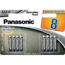 Panasonic AAA Batteries Power Silver Alkaline LR03 1.5V 10x Longer Last 4+4 Free