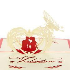 Birthday Wedding Aniversary Valentine's Day 3D Greeting Cards Gift
