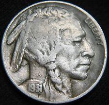 BOLD KEY Date 1931-S BUFFALO NICKEL! VERY Low Mint 1.2 million FREE S&H DV06MI