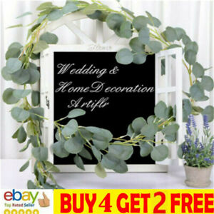 2M Artificial Eucalyptus Garland Hanging Flowers Rattan Vine Ivy Wedding Dec