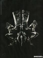 Publicité 2008 DIESEL chaussure botte collection mode pret à porter vetement