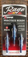 Rage 100 Grain Practice Heads 2-Blade X-Treme Durable ( For Practice Only ) SALE