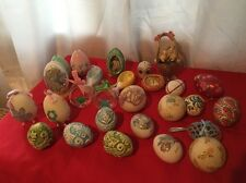 Lot of 27 Assorted Easter Eggs Decor Colorful Eggs