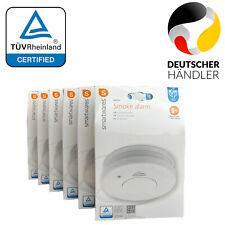 Rauch Melder Set TÜV Zertifikat inklusive Batterie Feuer Brand Alarm Halterung