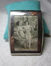 Art Deco Nude Pinup Girl Women Cigarette Case 1920s Photo RARE Original Antique