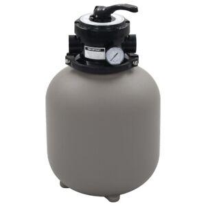 Sandfilteranlage Filter Pool Pumpe Filterpumpe Sandfilter mit 4 Wege Ventil