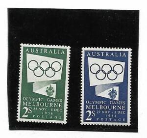 Australia  Queen Elizabeth II 1954-5 Olympic Publicity Mint Never Hinged (2)