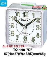 AUSTRALIAN SELER CASIO ALARM DESK CLOCK TQ-140-7DF TQ140 TQ-140 12-MONTH WARANTY