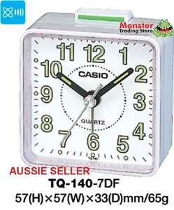 CASIO ALARM DESK CLOCK TQ-140-7DF TQ140 TQ-140 12-MONTH WARANTY