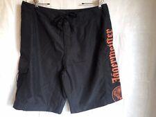 New Jagermeister Mens Black Swim Trunk Board Shorts Sz L Beach Surf Velcro/Tie
