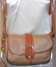 Dooney & Bourke Allwleather Vintage Exc Condition Over & Under Handbag Taupe Tan