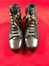 Leder Damen Schuhe Stiefelette Stiefel braun Gr. 38 Keilabsatz Gerry Weber