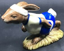 "Vintage 1982 Royal Doulton Jogging Bunnykins Figurine Porcelain #Db22 4"" Long"