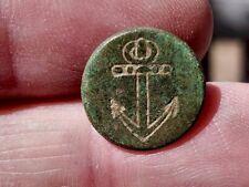 Rev War Dug Navy Button - Killer Green Patina!