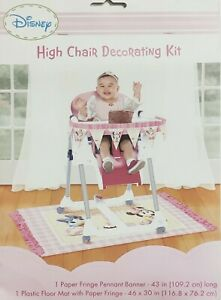 Minnie Mouse 1st Birthday Party Supplies   High Chair Decorating Kit