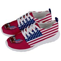 United States American America USA Flag Mens/Womens Running Sneaker Shoes USH