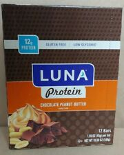 Luna Protein Chocolate Peanut Butter 12bars( Lot of 2)