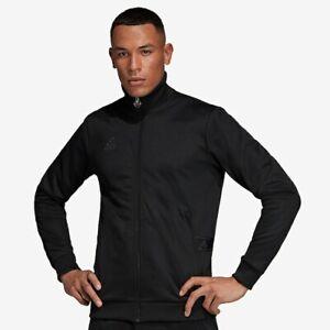 {DY5826} Adidas Soccer Men's Tan Heavy Club Black Tango Black Jacket *NEW*