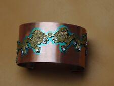 DRUKYUL - Bracciale donna stile bhutanese - metallo - ottone - zirconi