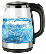 Neo Cordless Electric Kettle Jug 2L Glass, Blue LED Light