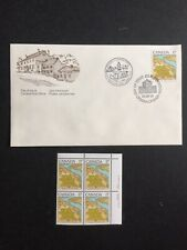 Canada Niagara On The Lake Fdc And Plate Block