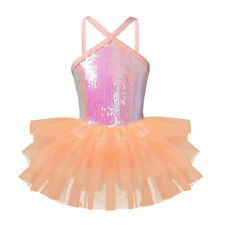 Girls Ballet Dress Dance Leotard Gymnastics Mesh Tutu Skirt Ballerina Costume