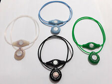 4 Lots of Power Balance Silicone Genuine Pendant Necklace Clear New Brand