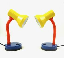 PAIR OF 2 COLORFUL MID CENTURY MEMPHIS POSTMODERN TABLE LAMPS 80S SOTTSASS AGE