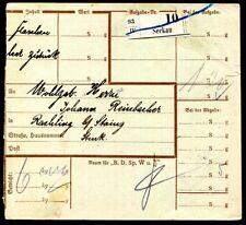 ÖSTERREICH PORTO 1925 139H HALBIERUNG auf PAKETZUSTELLKARTE 200€(J9164