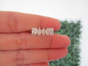 1.19 CTW Diamond Half Eternity Ring 18k White Gold HE215 sep (MTO) *