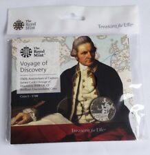 Royal Mint Captain Cook 2018 £2 Two Pound Brilliant Uncirculated Coin in Pack